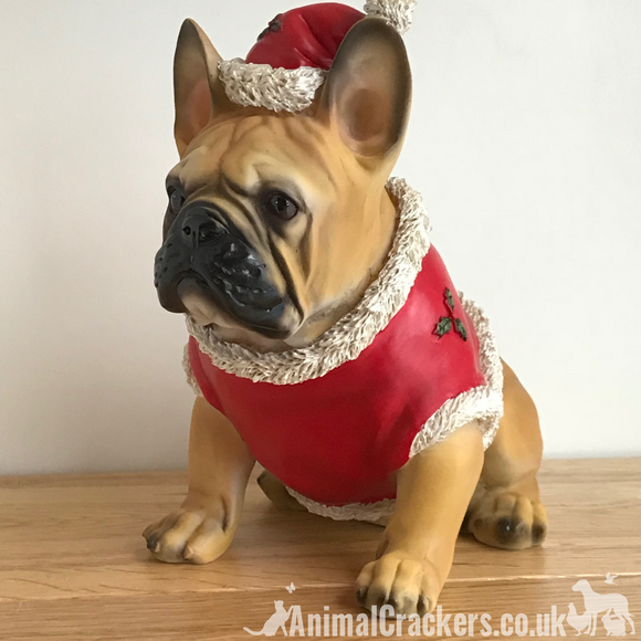 French Bulldog (Tan) Frenchie Dog Christmas jumper outfit ornament decoration