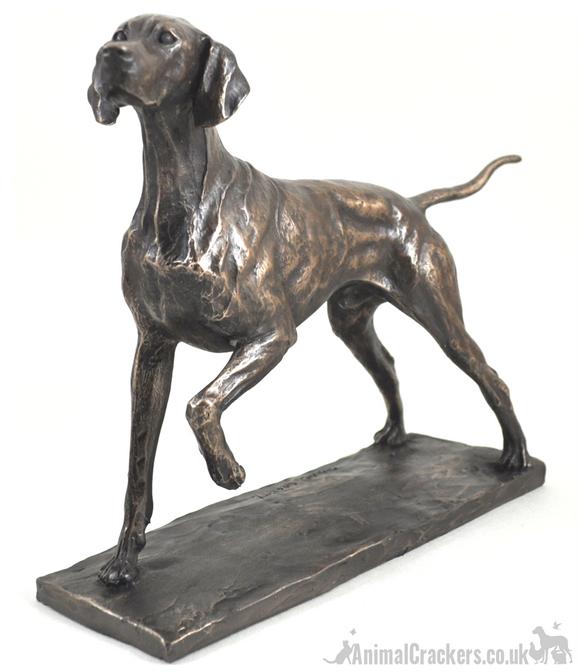 Large classic pose Pointer bronze ornament figurine designed by David Geenty