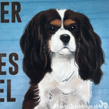 20cm metal Cavalier King Charles Spaniel lover gift breed character hanging sign