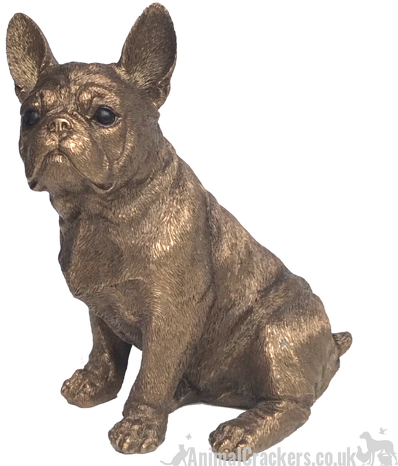 Leonardo French Bulldog Frenchie Bronzed ornament figurine, Animal Crackers Exclusive! Gift boxed