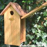 Copper Roof GREAT TIT Bird house nest box chunky wood garden bird lover gift