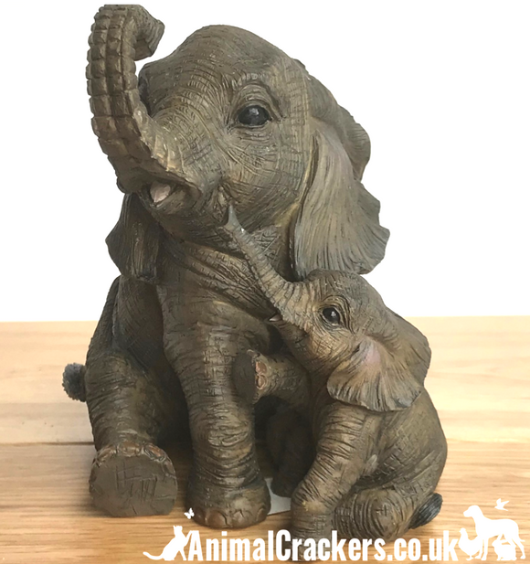 Sitting Elephant with Calf ornament/figurine from Leonardo, gift boxed