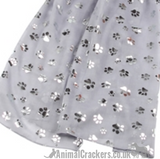 Silver foil Dog Paw print ladies  lightweight cotton mix Scarf Sarong in choice of colours
