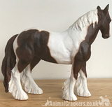 Skewbald (Brown & White) Cob ornament coloured horse pony lover gift, from Leonardo