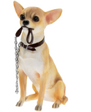 Chihuahua large 18cm quality lifelike Leonardo ornament figurine, gift boxed