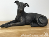 20cm Laying Greyhound ornament figurine decoration bronze effect Dog Lover Gift