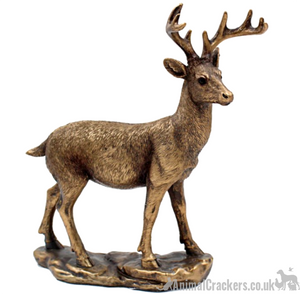 Deer ornament from the Bronzed Reflections range by Leonardo, gift boxed