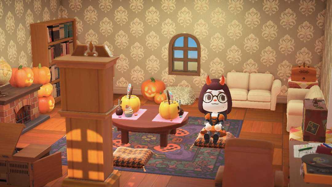 Animal Crossing: New Horizons 🏝️: Set - Spooky Living Room ... on Living Room Animal Crossing New Horizons  id=66891