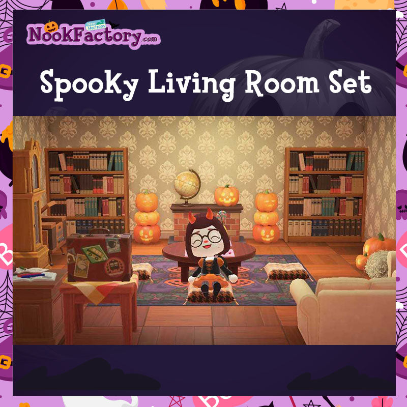 Animal Crossing: New Horizons 🏝️: Set - Spooky Living Room ... on Living Room Animal Crossing New Horizons  id=12170