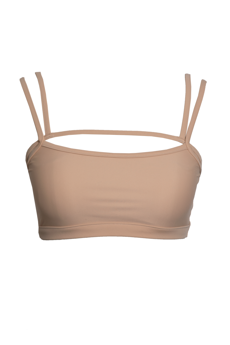 Oke Swim Bra Top in Sand