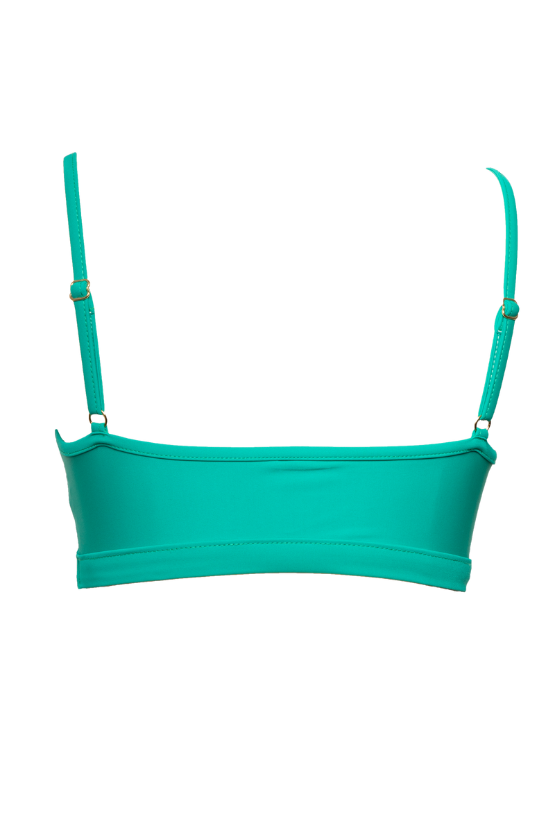 G-Tang Swim Top in Emerald