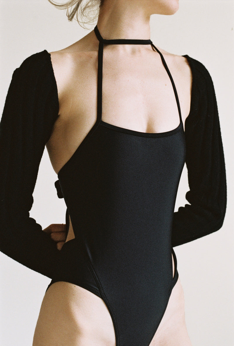 String Swimsuit in Black