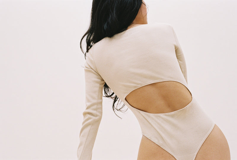 Dao Bodysuit in Toasted Almond