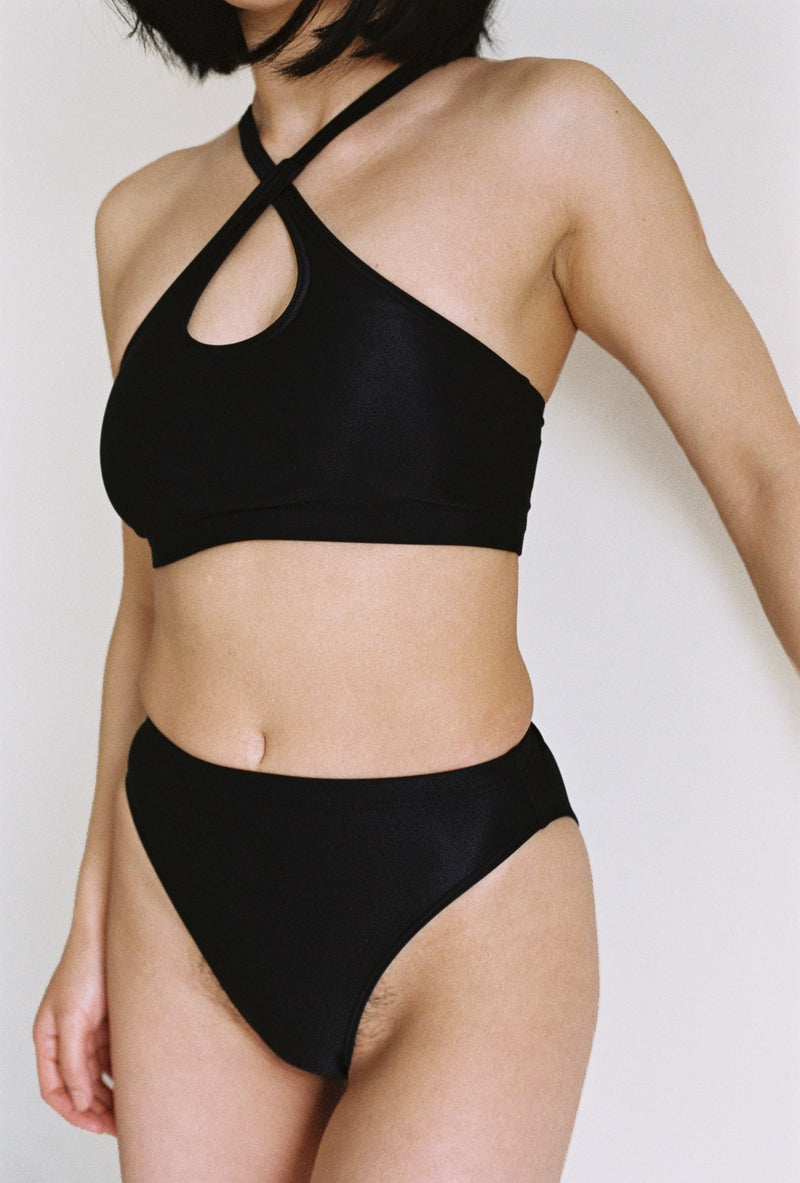 Marine Swim Top in Black