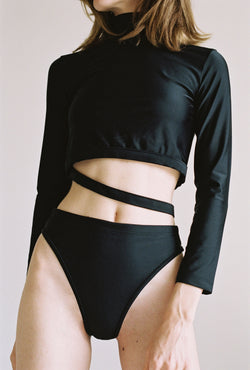 Koi Swim Top in Black