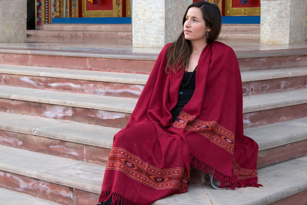 DEVATA Shawl | Indian Ethnic Meditation Shawl | Esprit de l'Himalaya