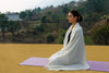 Padma Om Shawl | Embroidered OM Wool Yoga Blanket | Esprit de l'Himalaya -2
