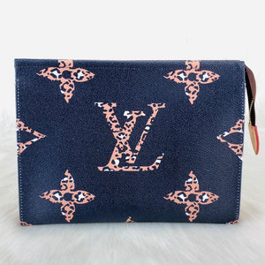 Toiletry Pouch Set Monogram Leather Oversize