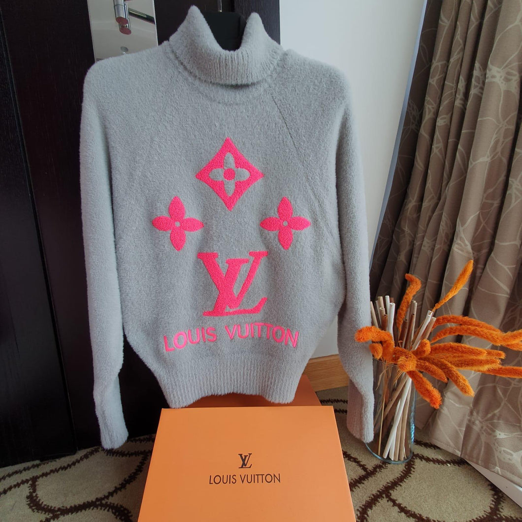 LV Lady Sweater Monogram Gray