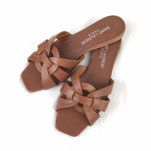 Tribute Flat Sandals Brown