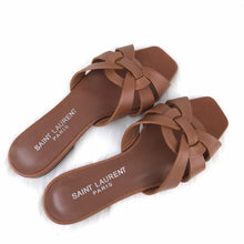 Load image into Gallery viewer, Tribute Flat Sandals Brown