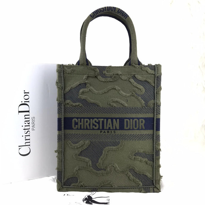 CDR Vertical Book Tote Oblique Canvas Green