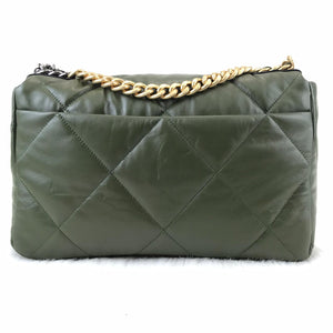 CH19 Large Flap Bag Green