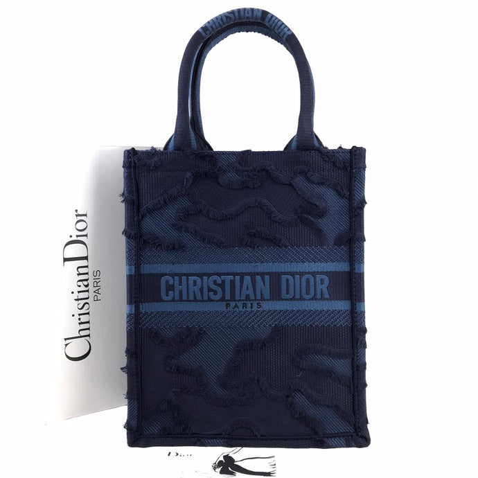 CDR Vertical Book Tote Oblique Canvas Blue