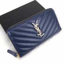 Load image into Gallery viewer, YSL Zippy Wallet Blue