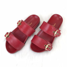 Load image into Gallery viewer, Bom Dia Flat Sandals Red