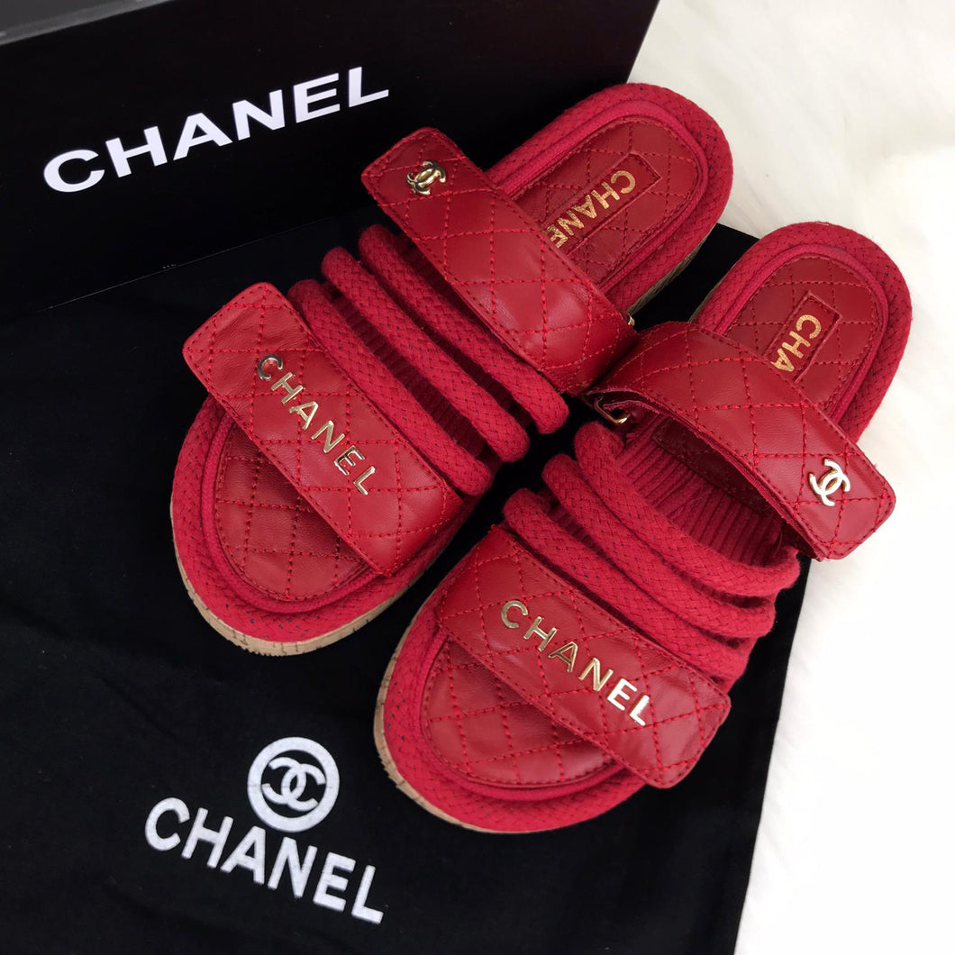 CH Trend Velcro Sandals Red