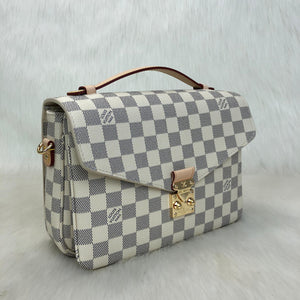 Pochette Metis Crossbody Bag Canvas Damier Azur