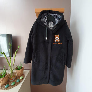 Moschino Teddy İcon Coat Black