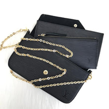 Load image into Gallery viewer, Felice Clutch Epi Black