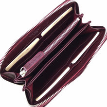 Load image into Gallery viewer, YSL Zippy Wallet Claret Red