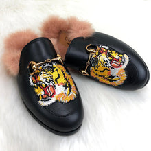 Load image into Gallery viewer, GC Princetown Leather Slippers Tiger