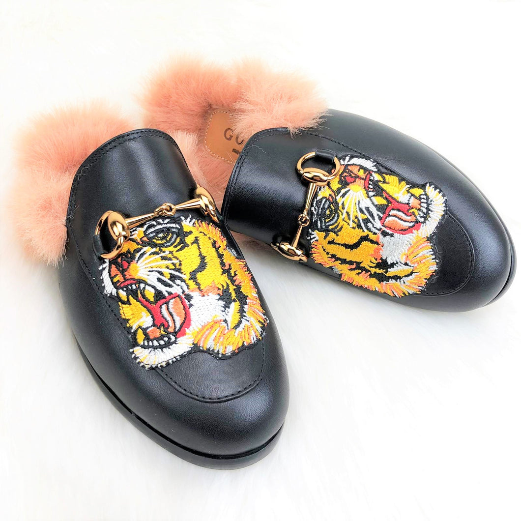 GC Princetown Leather Slippers Tiger