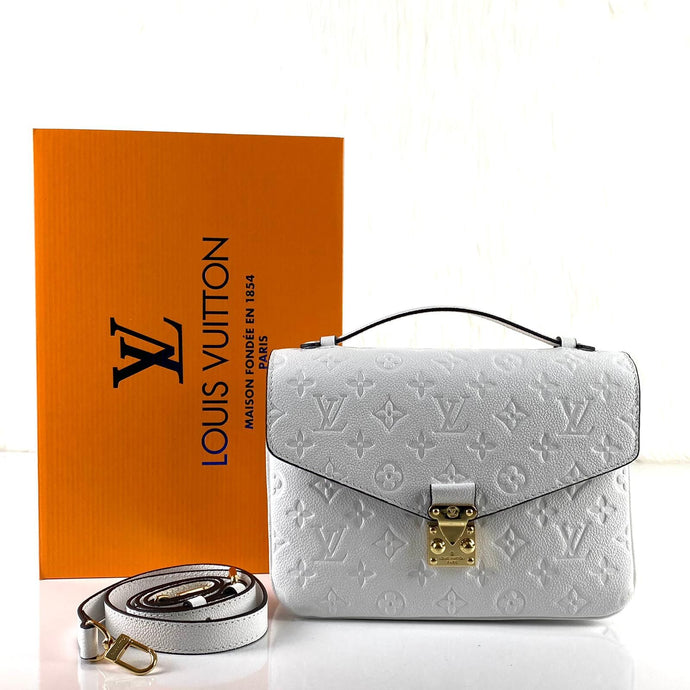 Pochette Metis Crossbody Bag Monogram Empreinte White