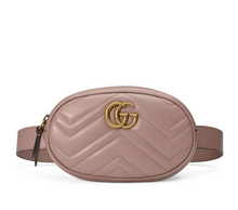 Load image into Gallery viewer, Marmont Belt Bag In Pink Matelasse Leather