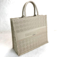 Load image into Gallery viewer, Book Tote In Denim Beige Dior Oblique Canvas