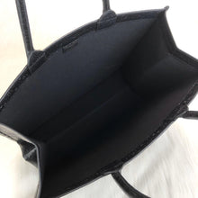 Load image into Gallery viewer, Book Tote In Leather Black Dior Oblique Canvas