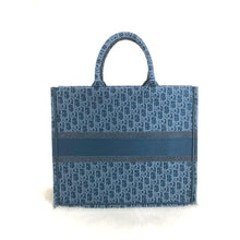 Load image into Gallery viewer, Book Tote In Denim Blue Dior Oblique Canvas