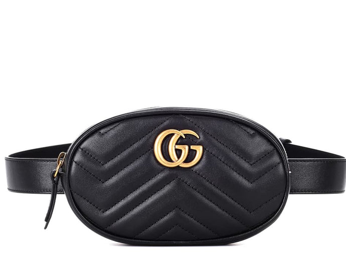 Marmont Belt Bag In Black Matelasse Leather