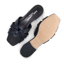 Load image into Gallery viewer, Tribute Flat Sandals Black