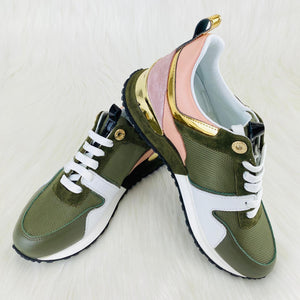 Run Away Sneaker Green Pink