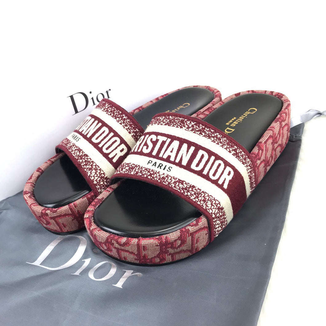 CDR Dway Wedge Sandals Claret Red