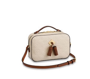 Saintonge Monogram Empreinte Cross Body Cream Leather