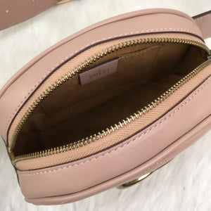 Marmont Belt Bag In Pink Matelasse Leather