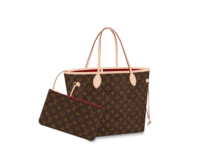 Neverfull Shoulder Bag Monogram Canvas Red