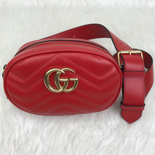 Load image into Gallery viewer, Marmont Belt Bag In Red Matelasse Leather